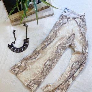 Old Navy Snake Skin Patterened Long Sleeve
